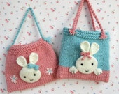 Bunny Bags - knitting pattern - Pdf Instant download