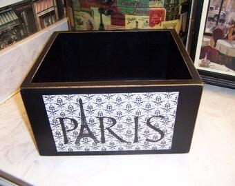 paris bathroom decor. Black Paris storage box bathroom decor theme French  Etsy