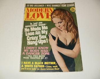 Vintage Modern Love Stories Magazine November 1968 - Spicy Love Stories, Hair Styles, Ephemera, Romance