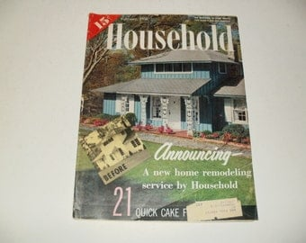 Vintage Household Magazine February 1958  - Fashion, Retro Vintage Ads, Scrapbooking, Homemaking