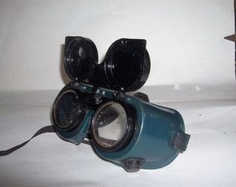Welding Goggles with Flip-Up Lens / Steampunk