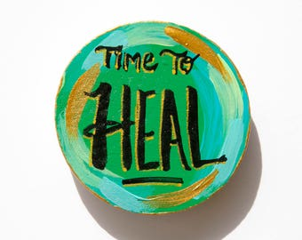 Healing Gift, Heal Magnet, Word Magnet, Affirmation, Illness Gift, Get Well Gift, Personal Development, Hand Lettered, Inspirational Magnet