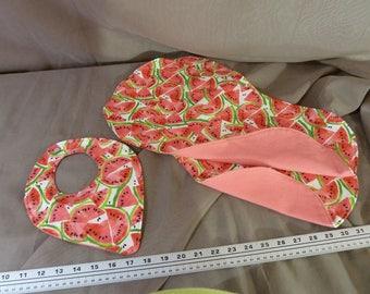 Burp cloths & bib watermelon
