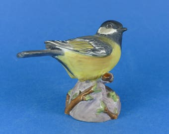 ROYAL WORCESTER Bone China Bird Model - GREAT Tit 3335
