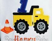 Boy's Dump Truck Birthday Shirt or Bodysuit, Dump Truck First Birthday Shirt or Bodysuit, Construction First Birthday Shirt, Dump Everything
