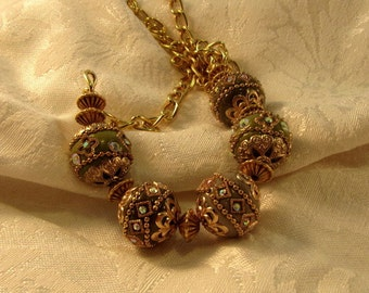 Specialty Bead and Vermeil Necklace