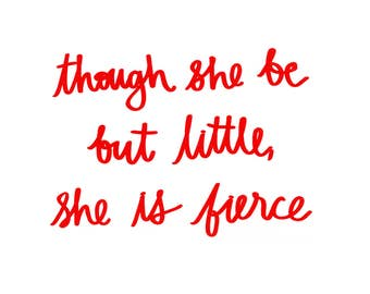 though she be but little, she is fierce // papercraft banner: International Women's Day special fundraiser