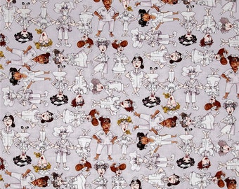 Loralie Designs Grey Tossed Nifty Nurses Fabric by the yard 691-799
