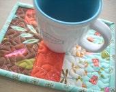 wing and leaf again mug rug - FREE SHIPPING
