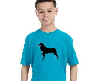 Rottweiler T-Shirt Dog Shirt, Kids Clothing, Toddler Tee, Cotton Crewneck Short Sleeved Shirt, Rotty Rottie, Animal Lover, Family Pet Dog