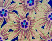 Kaffe Fassett Potentilla, brown, OOP, rare, vhtf, by the half yard, gold Floral fabric
