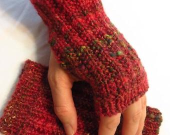 Goji Mitts - Handspun, handknit mitts
