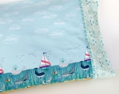 Pillow Case, Standard Bed Kids Pillow Case, Tales of teh Sea Mermaids, Whales, Boats