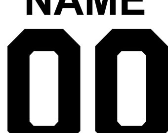 Name and Number on back of shirt