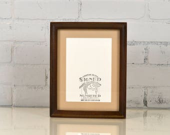 7x9 Picture Frame with mat for 5x7 Photo in Foxy Cove Style with Vintage Dark Wood Tone Finish IN STOCK Same Day Shipping 7 x 9 or 5 x 7