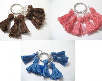 Stitch Markers Tassels Set with Beaded Row Marker for Knitting & Crocheting - 5 Stitch Markers 1 Row Marker