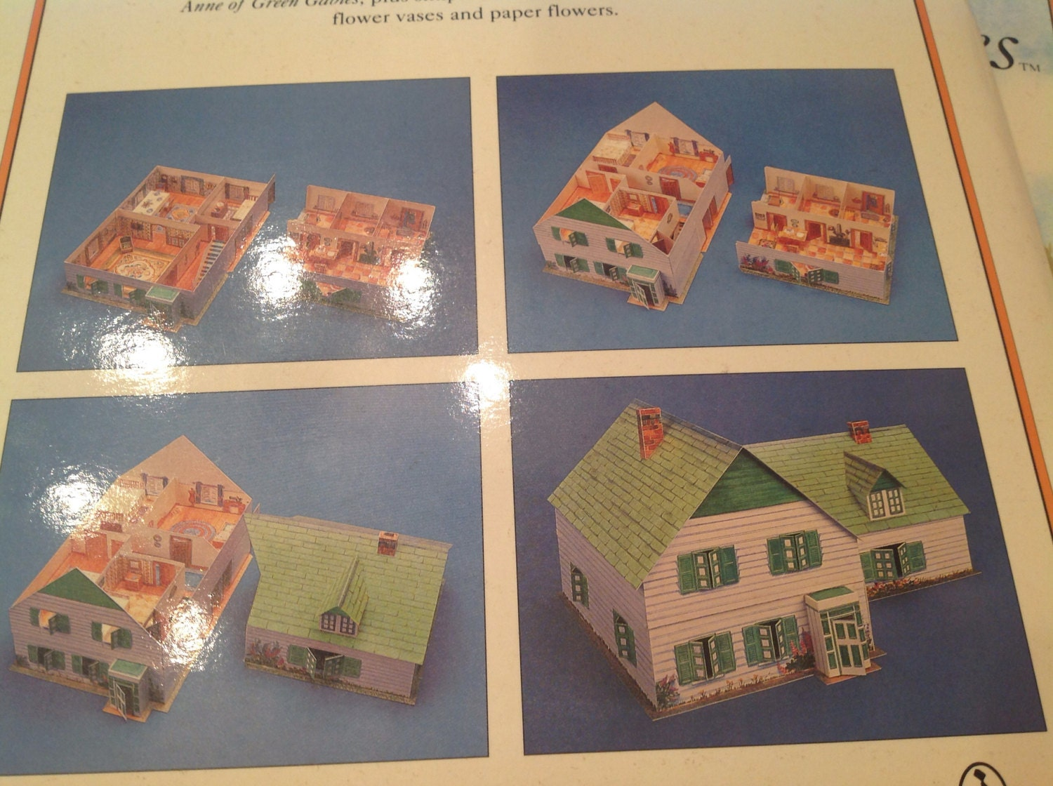 anne of green gables press out model home paper dolls