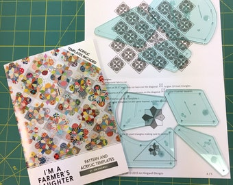 I'm a Farmer's Daughter pattern and Acrylic Template Set by Jen Kingwell