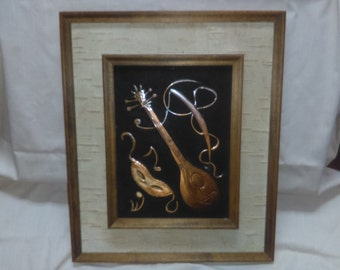 Don Foltz Hand Tooled Copper Art Wall Hanging