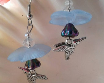 Hummingbird Earrings,Bird Earrings