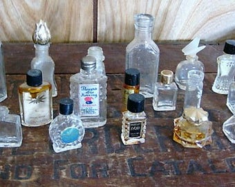 Miniature Glass Cologne Bottles Miniature Bottle Collection Jewelry Supplies Craft Supply Bottles
