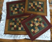 Set of 4 Quilted Place Mats (Item # 123)