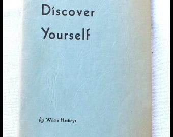 1962 Discover Yourself Book by Wilma Hastings Hair, Exercise, Diet, Clothing, Make Up FREE SHIPPING