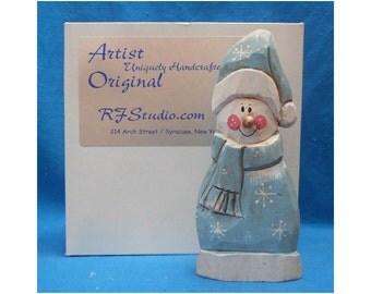 Wood Snowman Decoration
