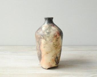 Vintage Vase, Pit Fired Studio Pottery Vessel