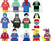 Lego Superhero Party Decorations