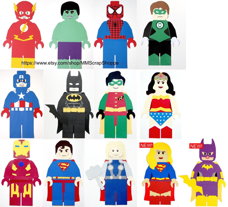 6 Malvorlagen Lego Superheroes: Lego Superhero Party Decorations