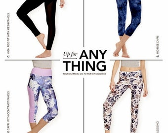 Stretch Knit Leggings Pattern,  Misses' Sz 4 to 26, Simplicity Sewing Pattern 8212