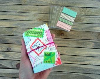 Travel Stamps - Washi Wallet