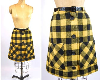 Buffalo plaid skirt | Etsy