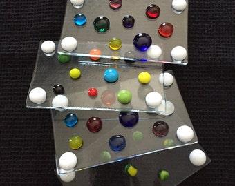 Porte savon unique verre fusion, soapdish, verre, decoration, salle de bain