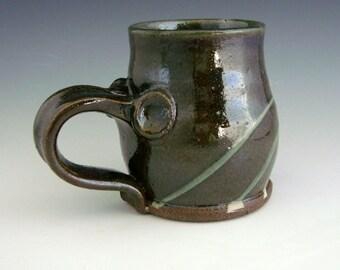 Oribe Green and Slip Splattered Mug