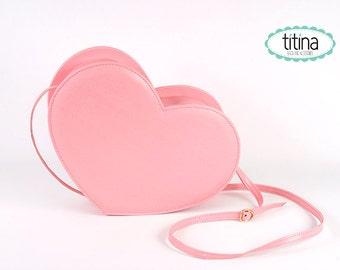 pastel pink heart bag