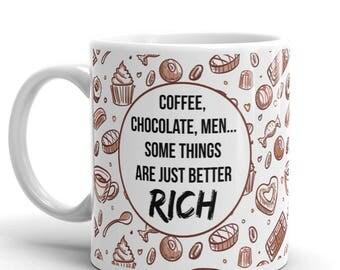 Chocolate Mug, Funny Coffee Mug, Coffee Mug, Meme Mug, Chocolate Lover Gift, Coffee Lover, Cute Mug, Gift for Her, Pattern Mug