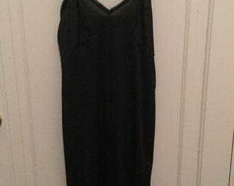 Vintage 1970s Black JC Penny Full Slip - 12/34 - XS/Small