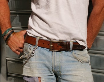 Brown Leather, Distressed Leather, Accessories for Him, Mens Belt, Leather Gift for Him, Leather Belt, Unique Leather, Custom Belt, His Gift