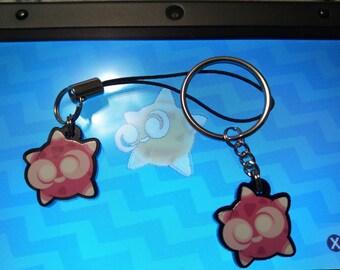 Minior Acrylic Phone Charm, Key Chain, or Necklace Pokemon Sun and Moon
