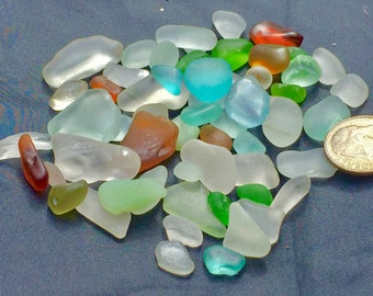 Sea Glass or Beach Glass of Hawaii 50! BLUE! Unique GIFT! Next day shipping Bulk Sea Glass! Bulk Sea Glass! Sea Glass Bulk! Mosaic Tiles!