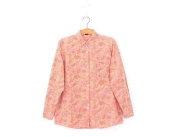 SALE Vintage Blouse * 90s Floral Shirt * Button up Shirt * Large