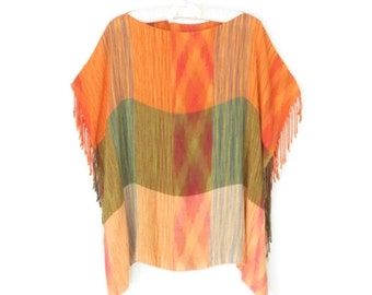 SALE Ikat Top * Ethnic Festival Shirt * Vintage Boho Shirt * Free Size