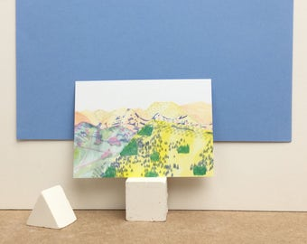"Carte postale ""Paysage jaune"""