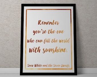 Poster / Print - Disney Snow White Movie Quote - 3 Sizes Available