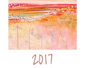 LARGE Colorful Fine Art Wall Calendar 2017