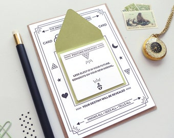 Fortune Telling Letterpress Card: Congratulations Baby