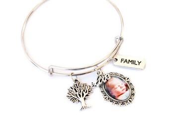 Photo Charm Bracelet / Personalized Photo Bracelet / Photo Bracelet / Photo Gifts / Photo Charm Bracelet / New Mommy Gift / Baby Gift