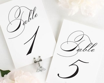 Vintage Glam Table Numbers - 4x6""
